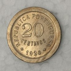 Portugal – Republic – 20 centavos – 1920 – Copper-Nickel – Not Circulated