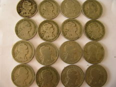 Portugal – 50 centavos dated 1929 – 1930 – 1931 – 16 coins