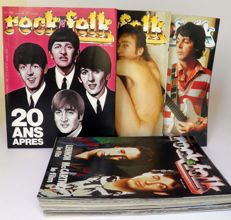 Rock and Folk Magazine about The Beatles including 7 issues