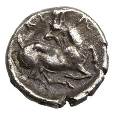 Ancient Greece - Cilicia - Kelenderis (~400 BCE) AR Obol, horse, goat
