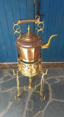 Art Deco Teapots Jug brass Large Moroccan Hammered Engraved Oriental home kettle