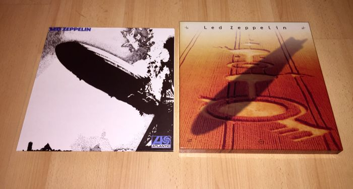 Led Zeppelin ‎– Lot; Same LP (Rare 1st Blue Lettering Plum Label) Reissue! + Led Zeppelin 4 CD Box Set