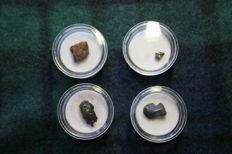 Lot of various meteorites in pvc boxes - 25 g (4)