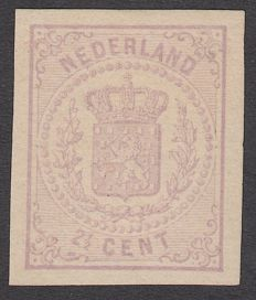 The Netherlands 1869 - National coat of arms, imperforate - NVPH 18v