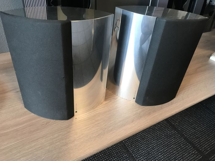Bang & Olufsen BeoLab 4000 speakers silver chrome