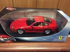 Hot Wheels - Scale 1/18 - Lot with 4 Ferrari cars: Ferrari 575 MM, Ferrari F430 Spider, Ferrari 360 Spider and Ferrari 333 SP.