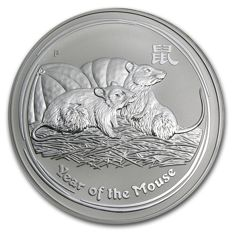 Australia - 30 dollars 2008 'Year of the Mouse' - 1 kg silver