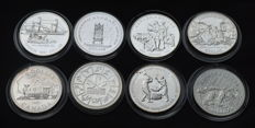 Canada - 8 Different Silver Coins Dollar