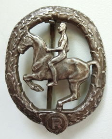 Wehrmacht German Equestrian Badge 2nd class in silver