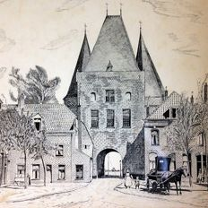 Unknown artist ( early 20th century ) -  Vischpoort te Kampen