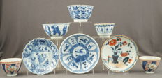 Collection of cups and platters – China – 18th and 19th century
