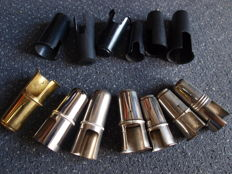 13 different reed caps in plastic and metal (lot 1)