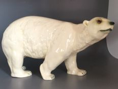 Coloured, Glazed Earthernware (Ceramic) Polar Bear Ornament