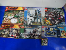 Indiana Jones + Castle + Alpha Team + Racers - 8 sets including 7626 + 7092 - Jungle Cutter + Skeletons' Prison Carriage