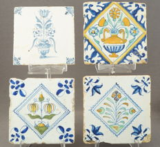Collection of 4 tiles