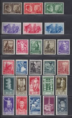 Italy 1936/1939 – Various depictions – Sassone 416/425, 439/448 and 452/457