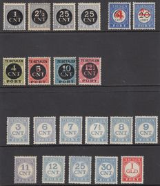The Netherlands 1906/1921 – postage due – NVPH P29/P30, P61/P64, P65/P68 and P69/P79