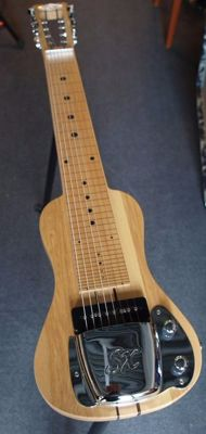 New SX 8-string Lapsteel guitar with gigbag, slide and stand, USA Swamp Ash