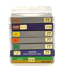 7 different Hoya filters 77 mm - new (1658)