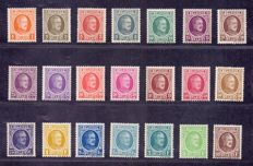Belgium 1922/1927 - 3 full series Albert I ´Hoyeux´ - OBP 190/210, 245/248 and 254/257