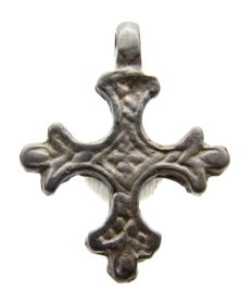 Crusaders Period Bronze Cross Pendant - 26x20mm