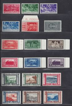 Italy 1930/1935 – Various depictions – Sassone 262/268, 276/280 and PA45/50