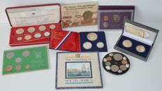 World – Various coins and year packs (8 pieces)