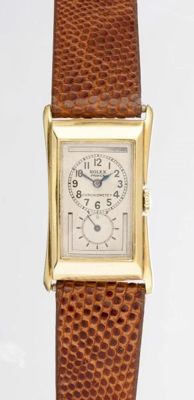 Rolex Prince Brancard Ref 1490 Yellow Gold 18 K Mens Watch Circa 1930
