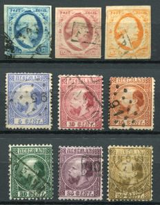 The Netherlands 1852/68 – King Willem III – NVPH 1/3 and 7/12