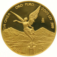 Mexico – 1/4 Onza 2005 'Winged Victory' – ¼ oz gold