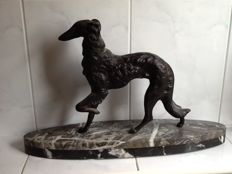 Greyhound - A large zamac sculpture - France circa 1925