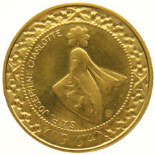 Luxembourg – medal 'Josephine Charlotte 1964' (on the weight of 40 franc) – gold