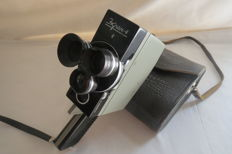 """Ekran-4"" (1966-1975) - 2 × 8 mm camera with a spring drive. Production KOMZ (Kazan)"