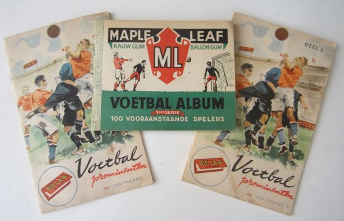 Soccer pictures albums 3 x - Maple Leaf and Football personalities volume I and II - around 1950