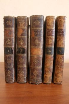 Adam Smith & J.A. Roucher (trad.) - Recherches sur la nature et les causes de la richesse des nations, traduites de l'anglois d'Adam Smith - 5 volumes - 1795