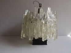 "Unknown designer - ""Icicle"" ceiling light - plastic and metal - complete - 2 crowns"