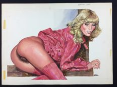 "Blotz (Guido Buzzelli) - Original illustration ""Amanda Lear"""