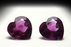 Lot of 2 Amethyst – Total 4.87 ct (2.35 + 2.52)