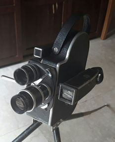 Paillard Bolex H16 Reflex Swiss Made 16mm Movie Camera with Lens Kern Paillard Switar 1,5 25mm - Switar 1,8 16mm - Yvar 2,8 75mm