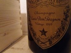 1969 Dom Perignon Vintage Champagne - 1 bottle with wood box