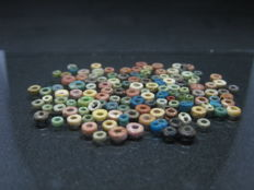 Ancient Egyptian Round Faience Beads - ca. 0,4 cm