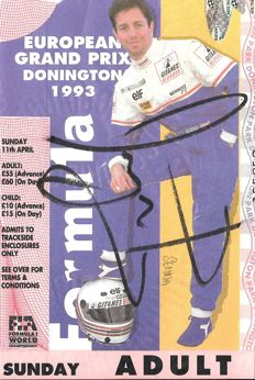 Ayrton Senna Signed British Grand Prix Ticket, 1993