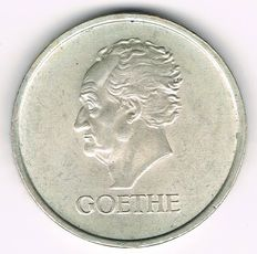 Weimar Republic - 3 Reichsmark 1932 A Death of Goethe - silver