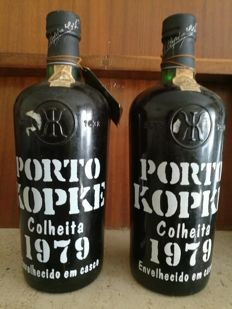 1979 Colheita Port Kopke - bottled in 1989 - 2 bottles
