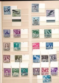 Spain, Portugal, and colonies 1950/1980 – batch in two stock books, five large stock cards and sheet parts, blocks of 4.