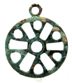 Large Saxon Period Sun Amulet  - 70mm (diameter)