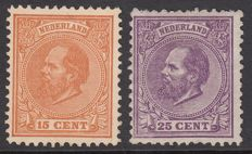 The Netherlands 1872 – King Willem III – NVPH 23 + 26