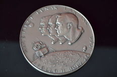 999 Pure Silver medal - Man's first lunar landing - Apollo 11 - July 20 1969