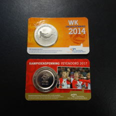 The Netherlands – Orange medal 2014 World Championship and Feyenoord Champion's medal 2017 (2 different ones)