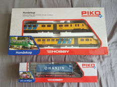 "Piko H0 - 57323/95614 - Mat '54 ""Hondekop"" train set NS and container wagon"